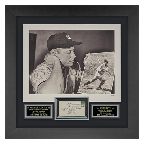 Mickey Mantle // Signed First Day Cover