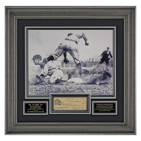 Ty Cobb // Signed Check
