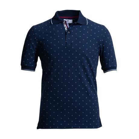 Jax Polo Shirt // Navy Blue (S)
