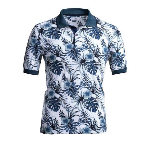Frank Shirt // White + Blue (S)