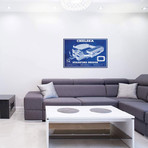 "London Stamford Bridge In Team Colors // Cutler West (40""W x 26""H x 1.5""D)"