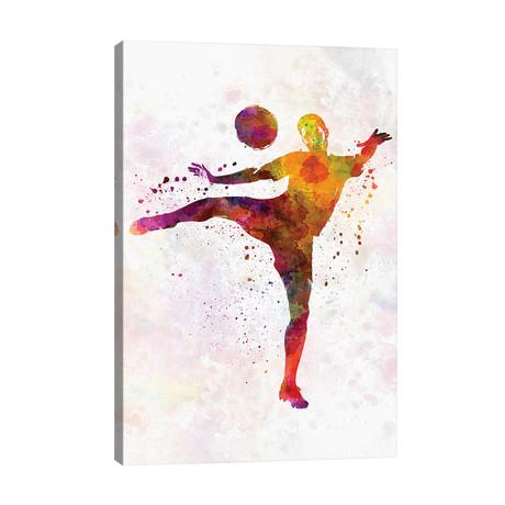 "Man Soccer Football Player VII // Paul Rommer (26""W x 40""H x 1.5""D)"