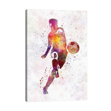 "Man Soccer Football Player X // Paul Rommer (26""W x 40""H x 1.5""D)"