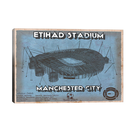 "Manchester Etihad Stadium // Cutler West (40""W x 26""H x 1.5""D)"