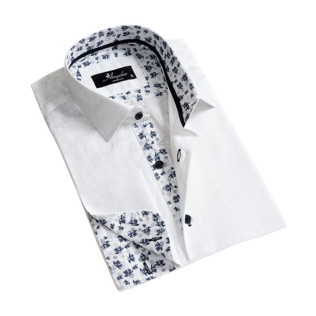 Reversible Cuff French Cuff Dress Shirt // White (S)