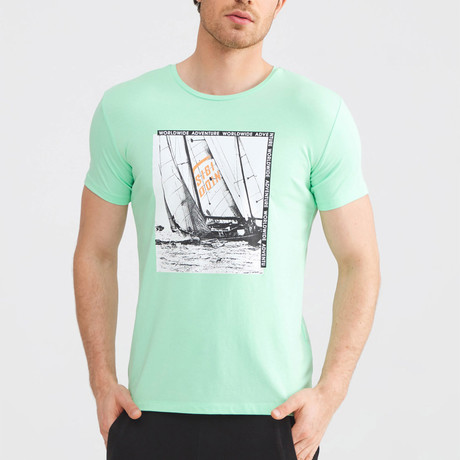 Worldwide Adventure T-Shirt // Water Green (S)