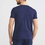 Abstract T-Shirt // Navy (L)