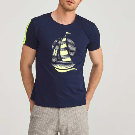 Sailboat T-Shirt // Navy (S)