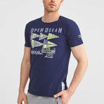 Open Ocean T-Shirt // Navy (2XL)