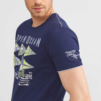 Open Ocean T-Shirt // Navy (M)