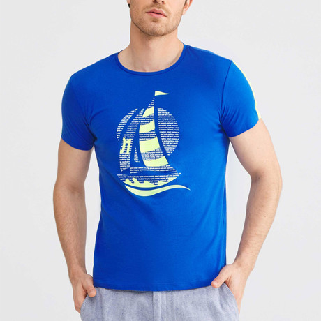 Sailboat T-Shirt // Sax (S)