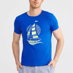 Sailboat T-Shirt // Sax (2XL)