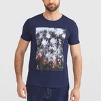 Abstract T-Shirt // Navy (S)