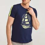 Sailboat T-Shirt // Navy (S)