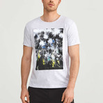 Abstract T-Shirt // Snow Melange (2XL)