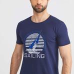 Experienced Navigation Sailing T-Shirt // Navy (XL)
