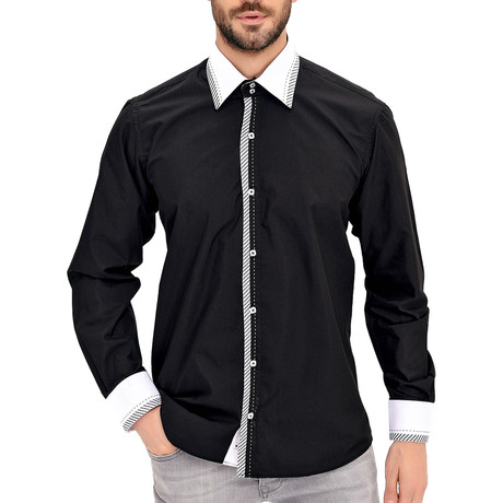 Keith Button-Up Shirt // Black (Small)