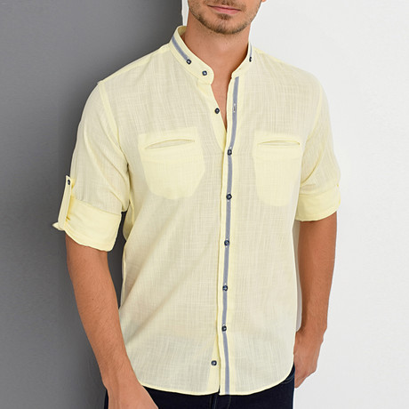 Al Button-Up Shirt // Yellow (Small)