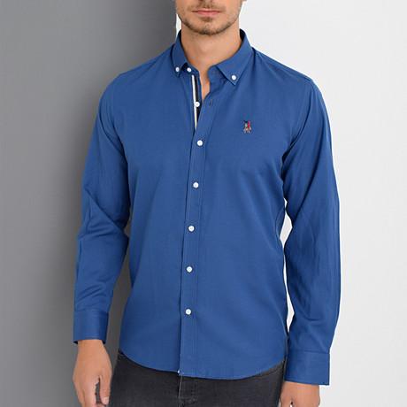 Ron Button-Down Shirt // Indigo (Small)