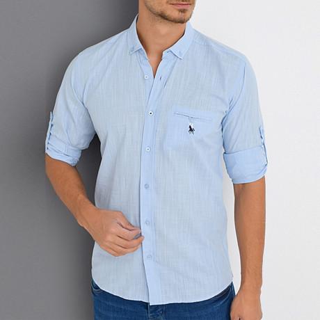 Scott Button-Up Shirt // Light Blue (Small)