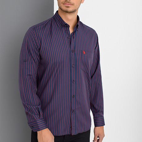 Chester Button-Up Shirt // Dark Blue (Small)