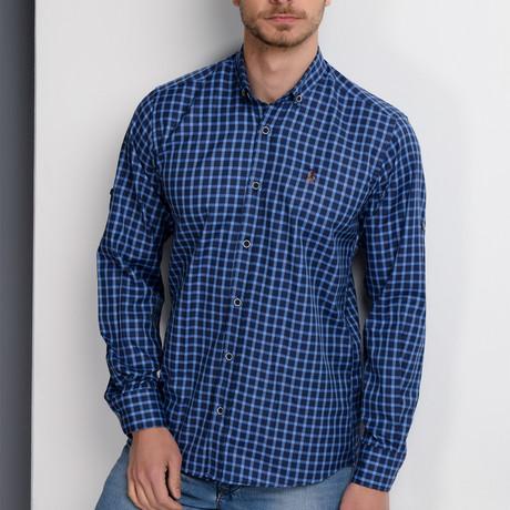 Hank Button-Up Shirt // Dark Blue (Small)