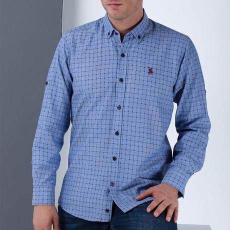 Roy Button-Up Shirt // Dark Blue (Small)