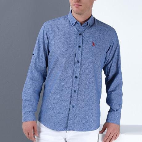 Damian Button-Up Shirt // Dark Blue (Small)