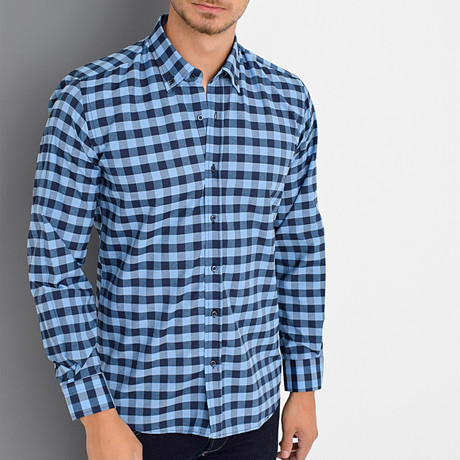 Canyon Button-Up Shirt // Blue (Small)