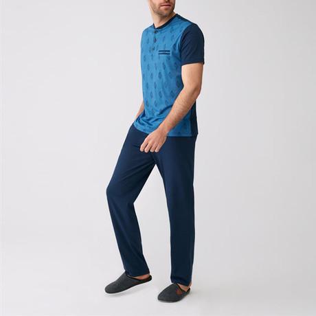 Yosemite Pajamas // Set of 3 // Blue (S)