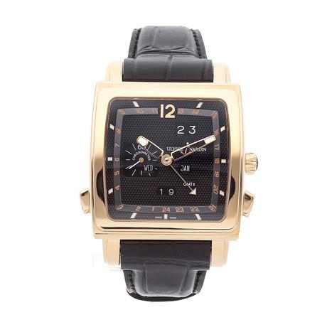 Ulysse Nardin Quadrato Dual Time Perpetual Calendar Automatic // 326-90/62 // Pre-Owned