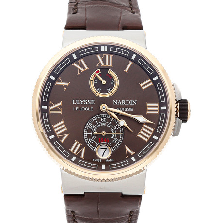 Ulysse Nardin Marine Chronometer Manufacture Automatic // 1185-126/45 // Pre-Owned