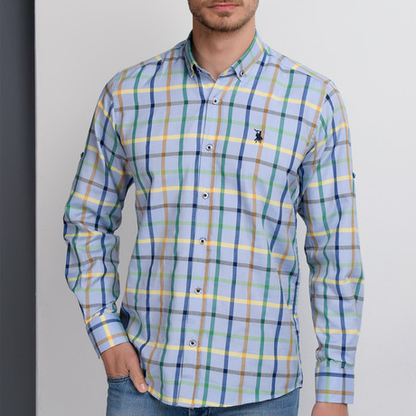 Gregory Button-Up Shirt // Blue (Small)