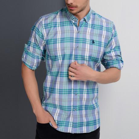 Kyle Button-Up Shirt // Blue (Small)