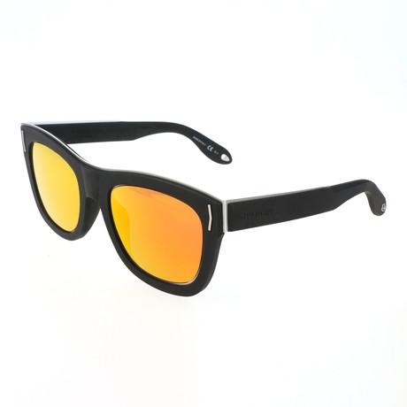 Unisex 7016 Sunglasses // Matte Black Rubber + Orange
