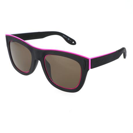 Unisex 7016 Sunglasses // Matte Black Rubber + Pink