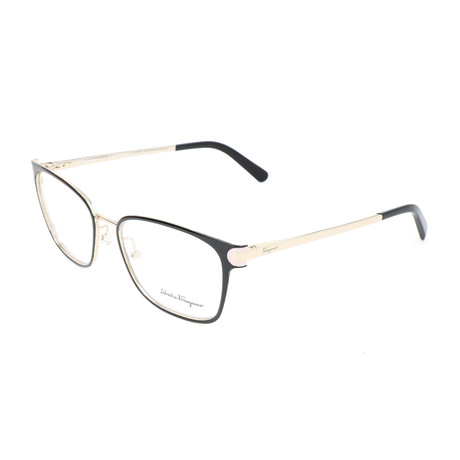 Women's SF2159 Optical Frames // Black + Shiny Gold