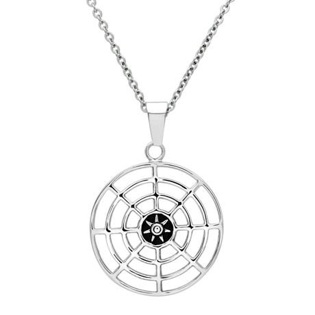 Round Compass Design Pendant