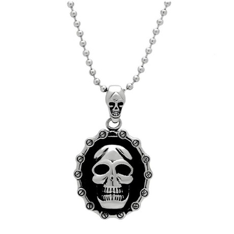 Oval Skull + Screw Head Pendant