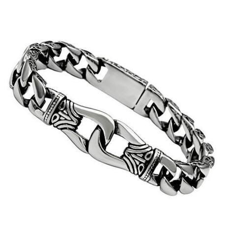Gents // Interlocking Bali Style Bracelet
