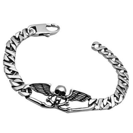 Gents // Flying Skull + Cross Bones Bracelet