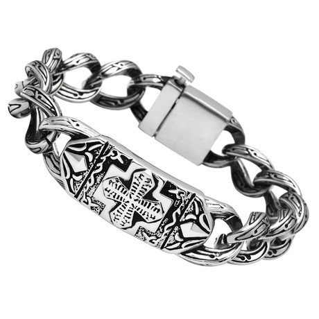 Gents // Square Byzantine Style Bracelet