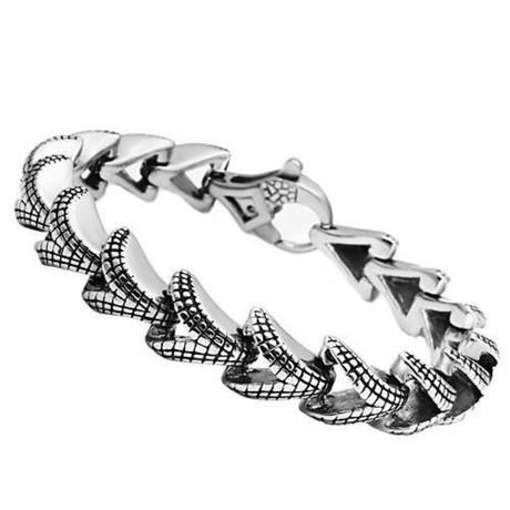 """Gents // """"V"""" Link Design Bracelet"""