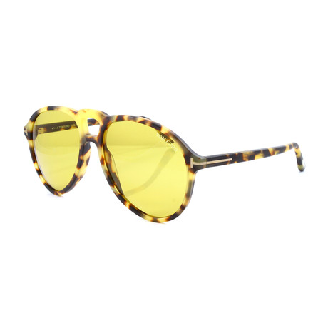 Men's FT0645S Sunglasses // Matte Light Tortoise + Yellow