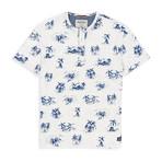 Beach Print Crewneck T Shirt // Blue (XL)