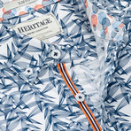 Leaves Print Sport Shirt // Navy (M)
