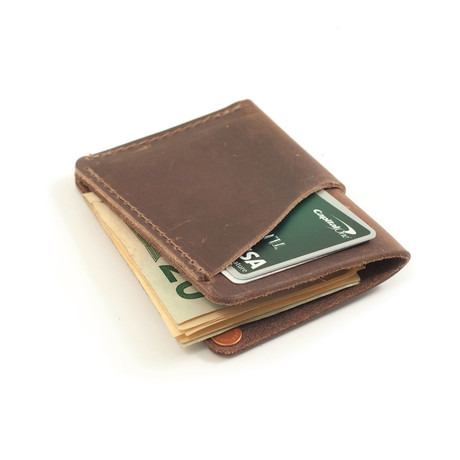Wave Leather Wallet (Dark Brown)