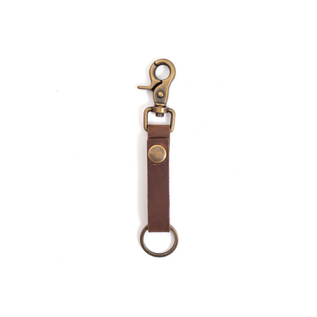 Super Loop Leather Keychain (Dark Brown)