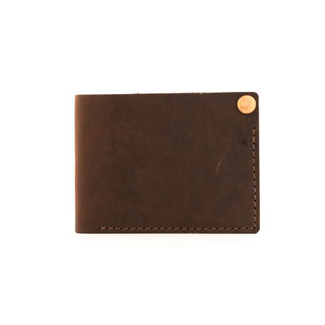 Benjamin Leather Wallet (Dark Brown)
