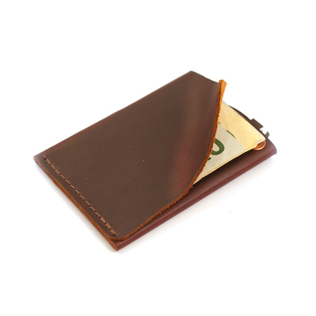 Commuter Leather Wallet (Dark Brown)